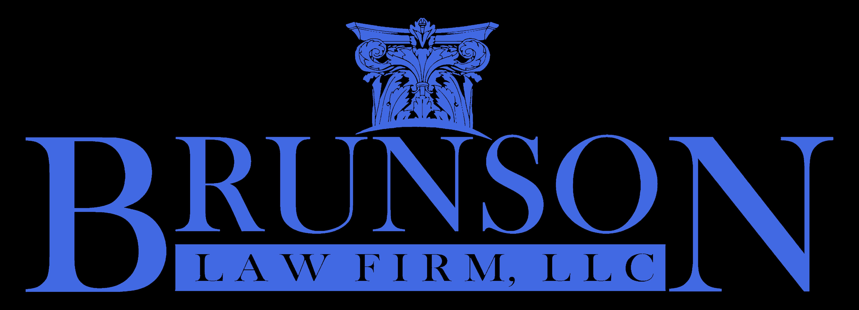 Brunson Law Firm logo royal blue