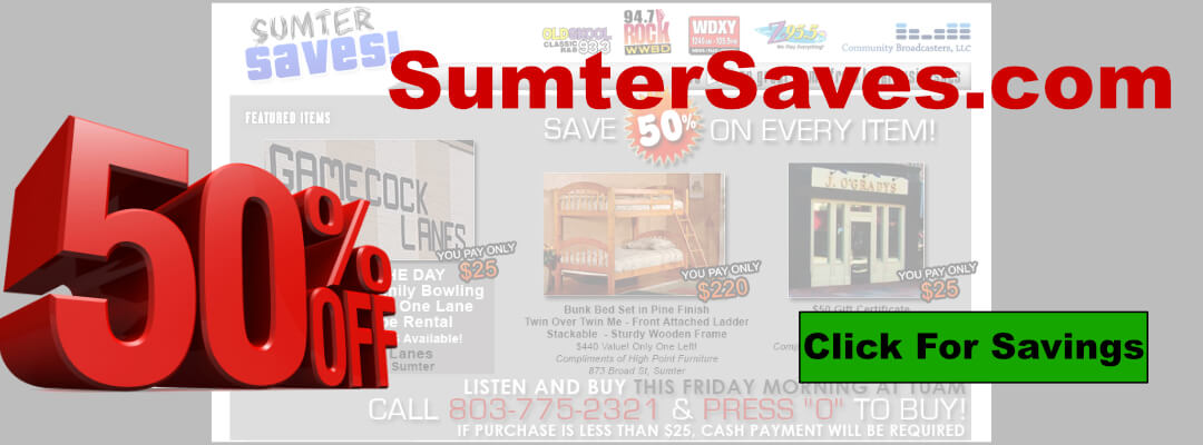 sumtersaves.com promotion
